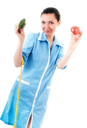 Nutritionist with vegetables photo