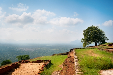 Part of the ruins of the palace and fortress of Sigiriya, Cultural Triangle, Sri Lanka photo