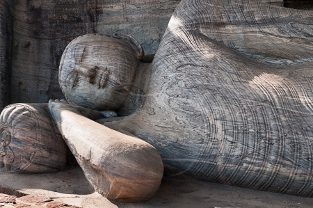 vihara: Lying reclining Buddha, Gal Vihara, Polonnaruwa, Sri Lanka