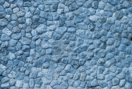 Blue stone wall background  photo