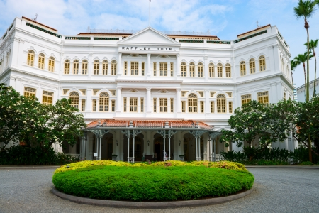 singapore building: Singapore - September 08, 2012:  The Raffles Hotel. Opened in 1899, it was named after Singapore