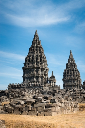 Candi Prambanan or Candi Rara Jonggrang is a 9th-century Hindu temple compound in Central Java, Indonesia, dedicated to the Trimurti: the Creator (Brahma), the Preserver (Vishnu) and the Destroyer (Shiva).