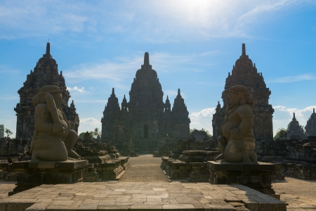 buddhist structures: Main entrance in Candi Sewu complex (means 1000 temples). It has 253 building structures (8th Century) and it is the second largest Buddhist temple in Java, Indonesia.