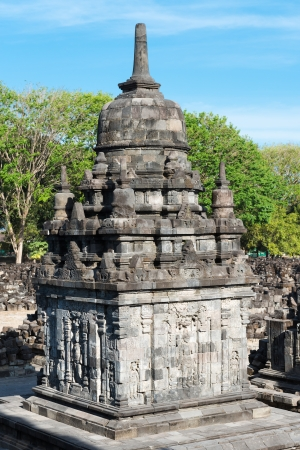 buddhist structures: Perwara  guardian  temple in Candi Sewu complex  means 1000 temples   It has 253 building structures  8th Century  and it is the second largest Buddhist temple in Java, Indonesia