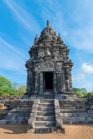 buddhist structures: Temple in Candi Sewu complex  means 1000 temples   It has 253 building structures  8th Century  and it is the second largest Buddhist temple in Java, Indonesia  Editorial