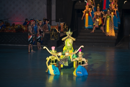 YOGYAKARTA, INDONESIA - SEP 12: Ramayana Ballet show at Prambanan temple on SEP 12, 2012  in Yogyakarta, Indonesia. It is based on epic Hindu poem and represents Javanese style, culture and music. Stock Photo - 17261892