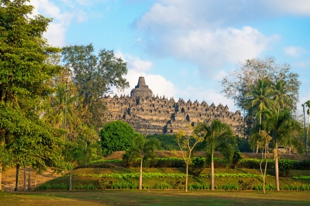 Borobudur, or Barabudur, temple Jogjakarta, Java, Indonesia. It is a 9th-century Mahayana temple and the biggest  Buddhist Temple in Indonesia. photo