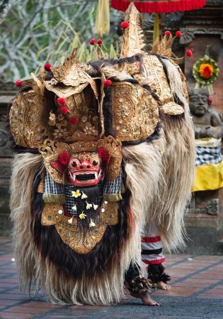 act of god: UBUD, BALI, INDONESIA - SEP 21: Barong Dance show, the traditional balinese performance on Sep 21, 2012 in Ubud, Bali, Indonesia. The show is popular tourist attraction on Bali.