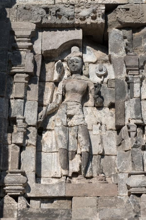 Avalokitesvara female deity relief in Candi Lumbung buddhist temple, Prambanan complex, Indonesia, Java, Yogyakarta  photo