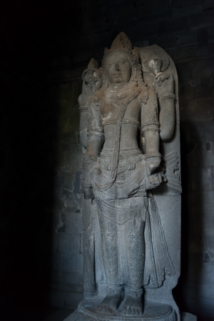 Shiva statue in south cella of Shiva temple in Prambanan temple, Indonesia, Java, Yogyakarta  photo