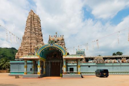 Hindu temple Matale Sri Muttu Mariyamman with the big traditional tower (gopuram), Sri Lanka photo