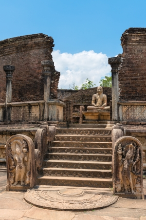 Vatadage is a type of Buddhist structure found only in Sri Lanka. Ancient city Polonnaruwa. photo