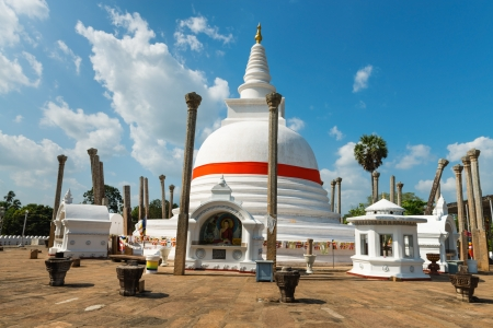 anuradhapura: Thuparamaya or Thuparama dagoba (stupa) in Anuradhapura, Sri Lanka