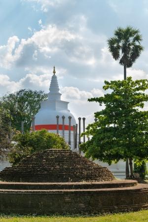 dagoba: Thuparamaya or Thuparama dagoba (stupa) in Anuradhapura, Sri Lanka