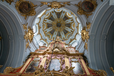 bartolomeo rastrelli: Interior of Saint Andrew orthodox church is a major Baroque church in Kyiv, Ukraine. The church was constructed in 1747-1754, to a design by the Italian architect Bartolomeo Rastrelli
