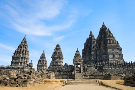 trimurti: Candi Prambanan or Candi Rara Jonggrang is a 9th-century Hindu temple compound in Central Java, Indonesia, dedicated to the Trimurti, the expression of God as the Creator (Brahma), the Preserver (Vishnu) and the Destroyer (Shiva).