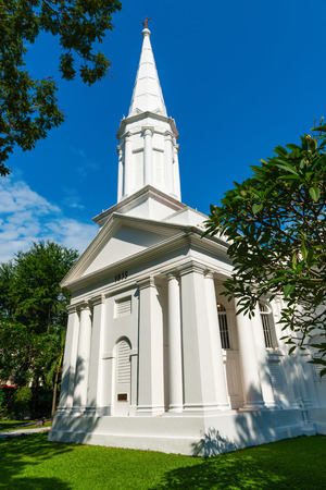 White Armenian Church of Saint Gregory the Illuminator in Singapore is the oldest Christian church in the city