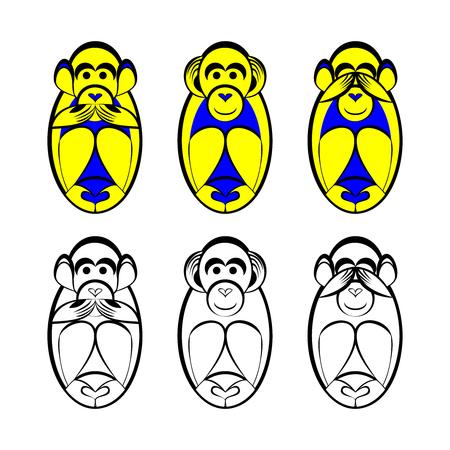 see no evil: See no evil, hear no evil, speak no evil monkey