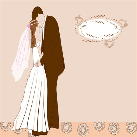 wedding background with the spase for text Vector