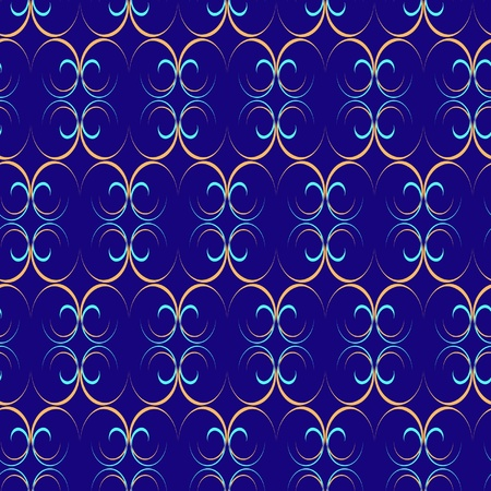abstract pattern in blue and yellow tones Vector