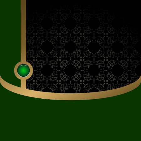 black and green background with a pattern Vector