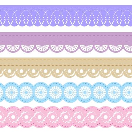 papel scrapbook: cordones para bloc de notas Vectores
