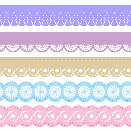 laces for scrapbook Vector