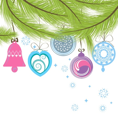 template of the Christmas card Vector