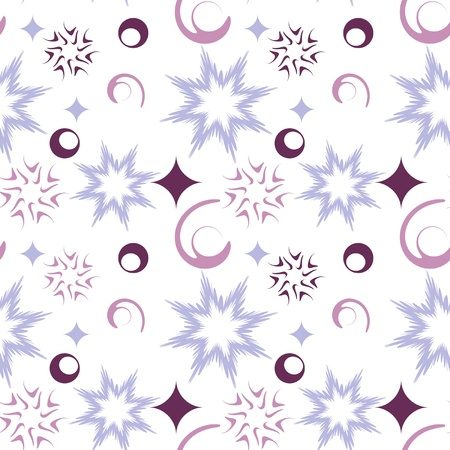 seamless pattern with abstract snow Vector