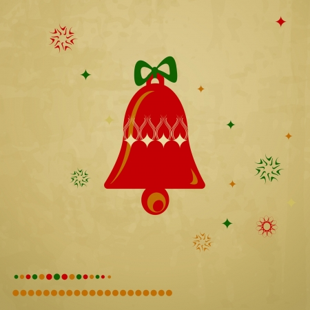 christmas greeting card with a bell Stock Vector - 16110039