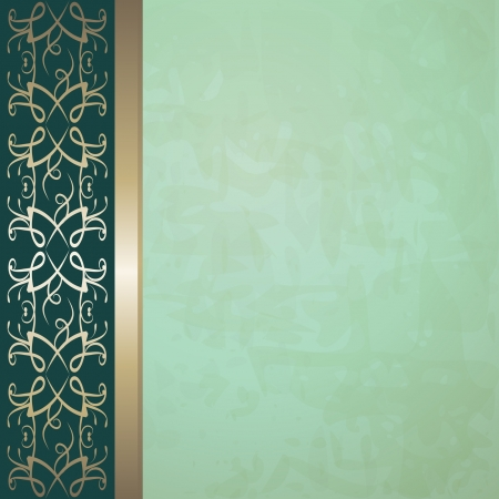 green vintage background Vector