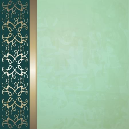 bulletins: green vintage background