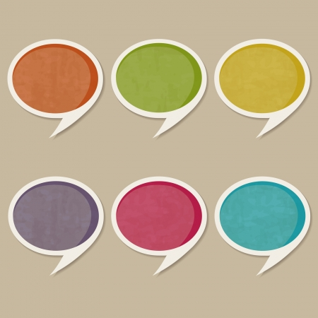 grunge speech bubbles or tags Vector