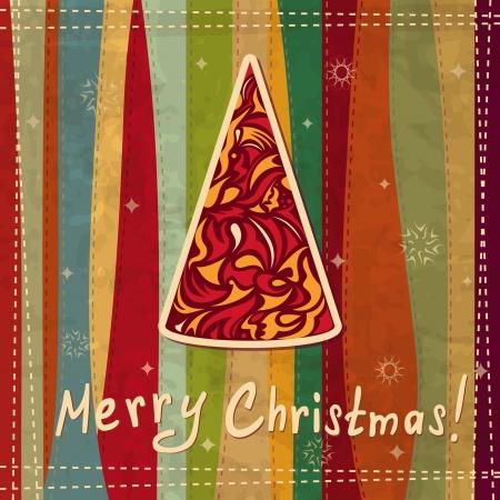 Christmas card with a fir tree Stock Vector - 16234618