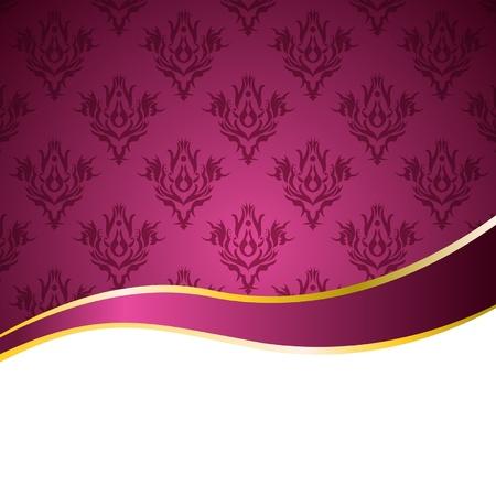 mo�os rosas: fondo de color rosa con una cinta de �poca