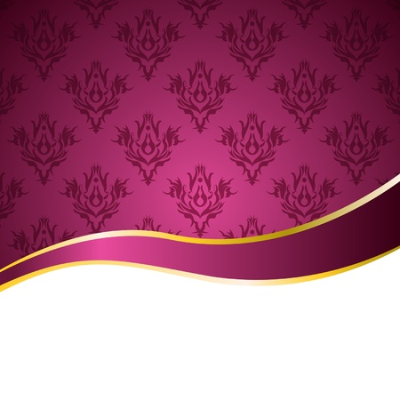 pink vintage background with a ribbon Vector