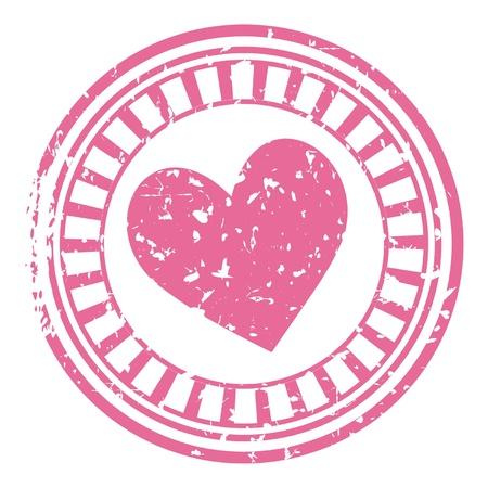estampa: sello rosa con coraz�n