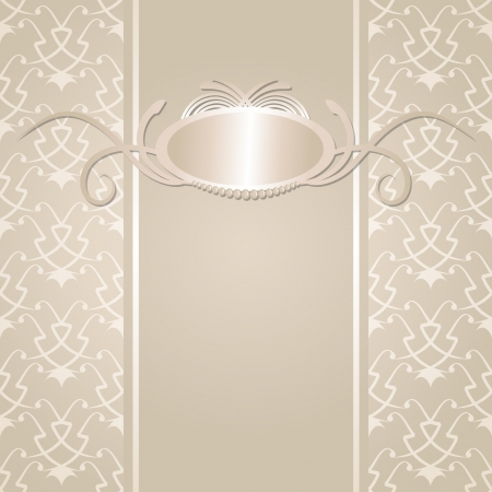 beige background with a frame Vector