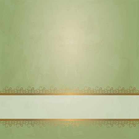 golden border: green vintage background