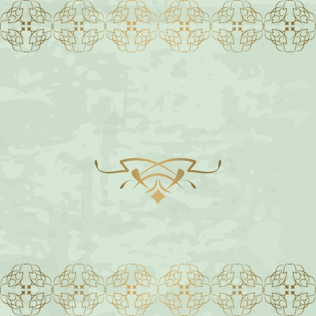vintage background with golden borders Vector