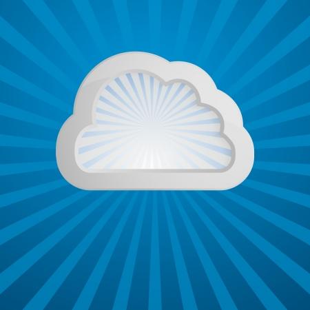 bubble speach: design template with a cloud