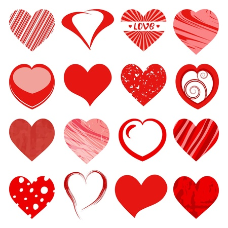 set of red hearts  Stock Vector - 17134898