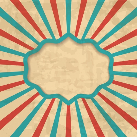 retro background with a frame Vector