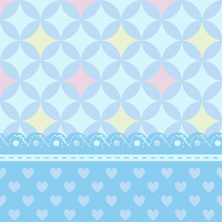 scrapbook cover: blue greeting card or a baby shower for a boy