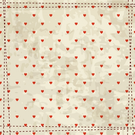 retro background with hearts pattern Stock Vector - 17624717