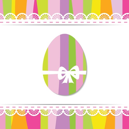 greeting card for the Easter Vector