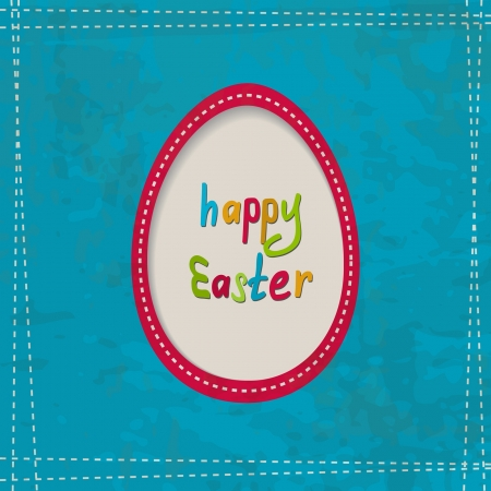 retro background for the Easter with an egg frame Stock Vector - 17948597