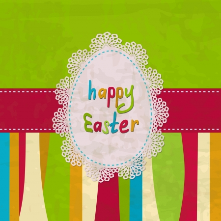 bright vintage greeting card for the Easter Vector