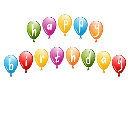 balloons for a birthday greeting Stock Vector - 17948594