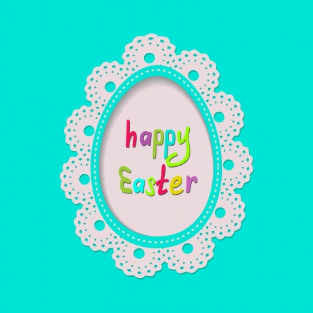 cute greeting card for the Easter Stock Vector - 18003348